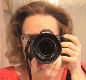 HIding behind the lens
