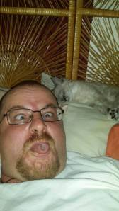 The selfie with cat.
