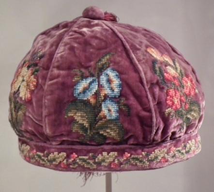 A gentleman's smoking cap. http://explore-art.pem.org/object/american-decorative-arts/109133/detai